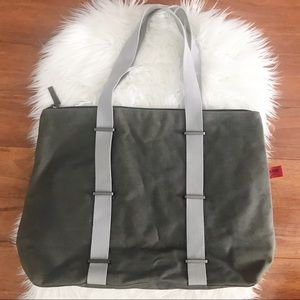 HUGO BOSS Canvas luggage tote bag